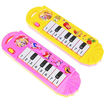 1PCS 0-7 Years Old Musical Instrument Boys Girls Mini Piano Toy Cartoon Baby Toddler Kids Early Educational Toys Color Random