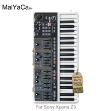 Luxury PC Hard Phone Case cover Keyboard Synthesizer Music For Sony Xperia z3 case