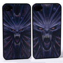 DYNAMIC Movie Video Film Effect mouth fang teeth rage roar wolf monster terror PC Hard Back Shell Cover Case For iphone 4 4S 4G(China)