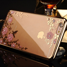 Case For iphone 4 5 5s SE 6 6s 7 Plus Secret Garden Plating Electroplating TPU Phone Back Cover Coque On 4 5 SE 7 6s Plus(China)