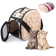 Soft EVA Foldable Pet Carrier for Small Dog Puppy Cat Outdoor Travel Shoulder Bag Pets Portable Dog Kennel Carrying bags for Dog(China)