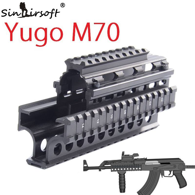 Yugo M70 Quad Rail System Mount scope AK 47 74 MNT-HG470A With 6pcs Rubber Covers<br><br>Aliexpress