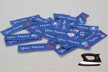 48  Nautical Custom Clothes Tags - Personalized Fabric Clothing Labels, Organic Cotton