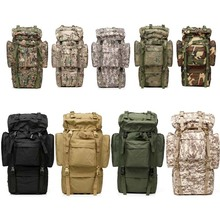 65L Tactical Travel Backpack Outdoors Camping Hiking Bag for Mountaineers Metal Frame Hiking Large backpack