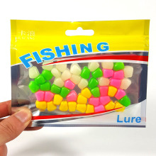 50pcs/lot Corn Soft baits 4 colors 1cm silicone bait Fishing Lure Carp Artificial Bait Floating baits fishing tackle WQ268(China)