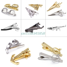 Mens Clothes Accessories Vintage cufflinks luxury Bar Clasp Anchor Guitar Necktie Tie Clip gemelos para camisas #Y51#