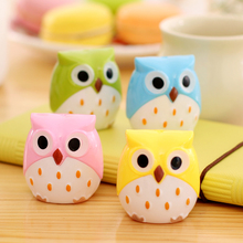 1pcs/lot Korea Creative Kawaii Owl Pencil Sharpener Cutter Knife Learning Office Stationery(China)
