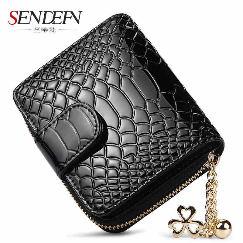 SENDEFN Lovely fashion women wallet, cow leather wallet design short bolt free woman Clutch Wallet Card Holder Coin Purse pocket<br><br>Aliexpress
