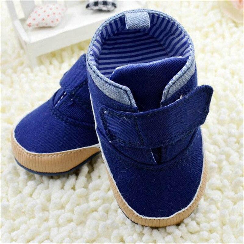 0-18M Toddler Kids Boys High Crib Shoes Soft Sole Infant Ankle Canvas Prewalker<br><br>Aliexpress