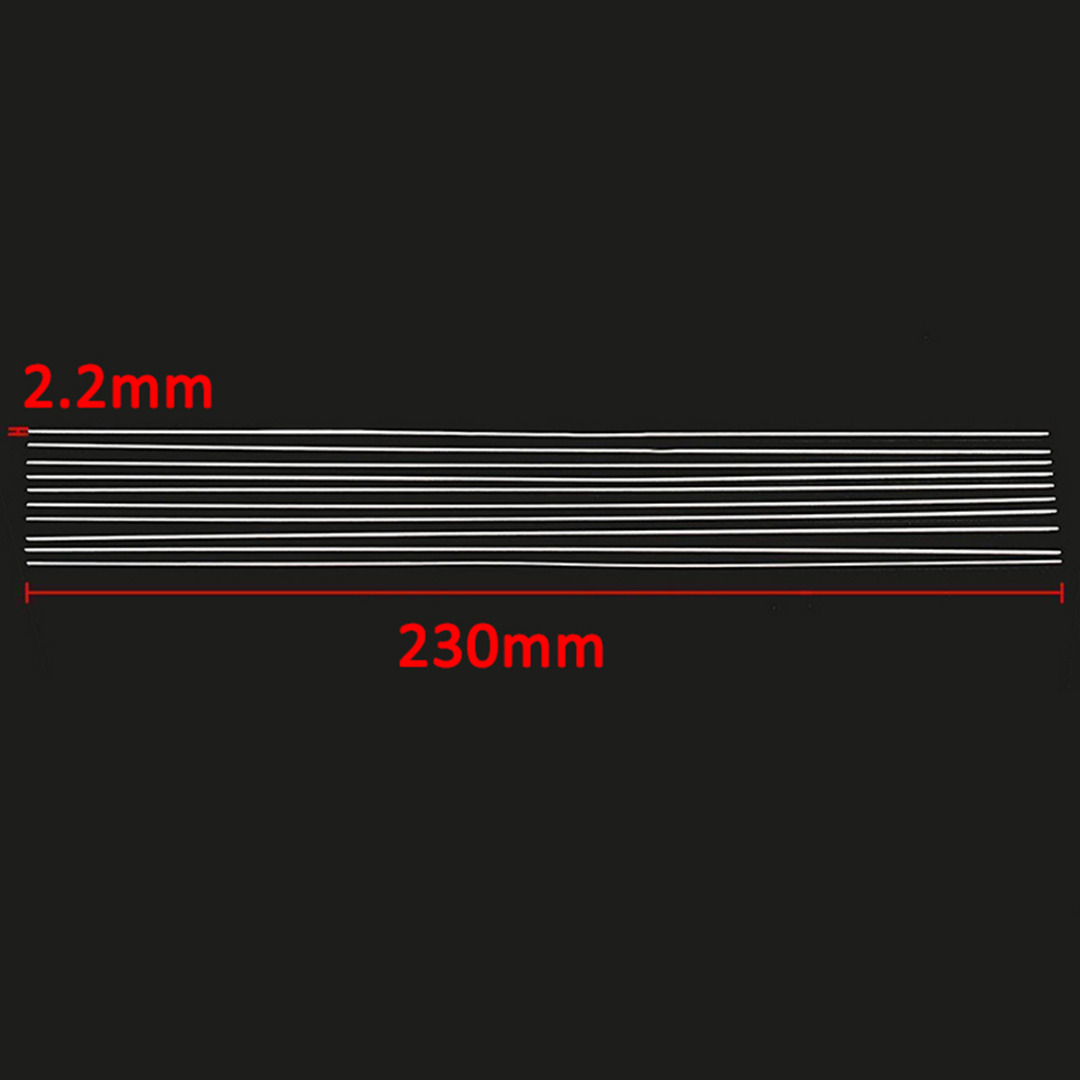 8pcs Aluminium Alloy Welding Brazing Rods Low Temperature 2mmx230mm Silver For Tig Soldering