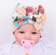 ON SALE 1PCS Baby unisex Hat beanie Floral Big bow cap infant girls boys Newborn Hospital Hat baby accessories 6 Colors