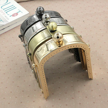 New 1Pcs 13cm Deep Arch Metal Opening Bags DIY Wallet Bag Accessories Purse Frame Kiss Clasp Bag Hinge 4 Color Bronze/Gold