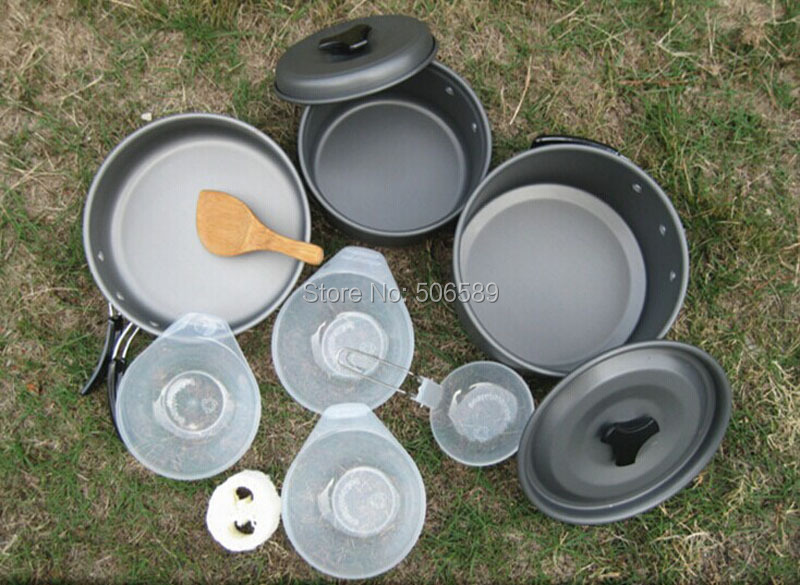 free shipping outdoor cooking set outdoor tableware fit 3-4 person use <br>