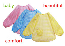New 1PCS Toddler Waterproof Long Sleeve Children Kids Feeding Art Smock Bib Apron(China)