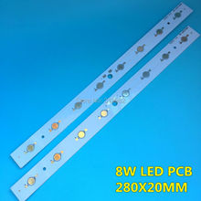 10 Pcs LED High power 1W 3W PCB Board Lamp Panel Aluminum Heatsink 8W 24W Lumen Plate Rectangle LED Light Base 280x20mm