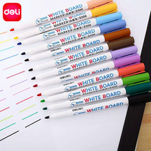 Deli Erasable Whiteboard Marker Pens 12 pcs Assorted Colors Value Set office Dry Erase Markers Office Supplies for Glass Windows(China)