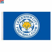 2018 New Arrival Football club flag LEICESTER CITY Polyester Flag 5*3 FT High Quality Banner(China)