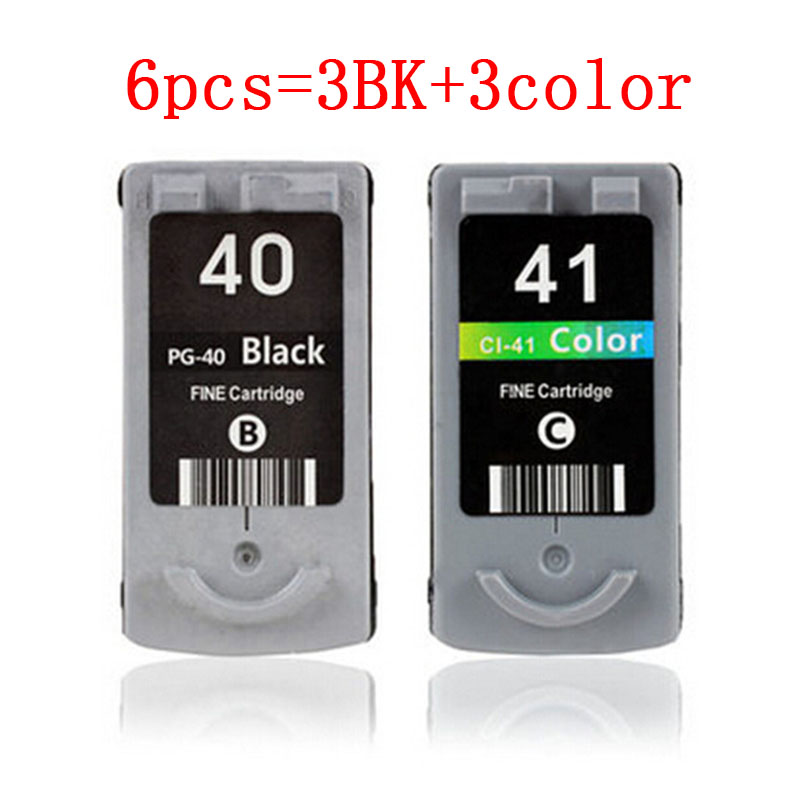 new listing 3BK+3COLOR PG-40 CL-41 Ink Cartridge for CANON PG40 CL41 for Canon PIXMA IP2500 IP2600 MX300 MX310 MP160 MP140 MP150<br><br>Aliexpress