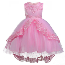 Brand Quality Girls Fairy Princess Dress Elegant Embroidery Christmas Party Gown Sequins Flower Kids Pageant Formal Clothing