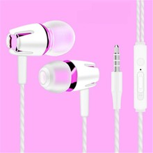 3.5mm In ear headset Earbuds stereo earphone Earphones HIFI with MIC microphone For iphone samsung Sony all Mobile Phone(China)