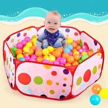 50pcs balls+Outdoor/Indoor Baby Playpens For Children's Foldable Kids Ocean Ball Pool Pit Activity&Gear Toy Fencing 1M 1.2M 1.5M(China)