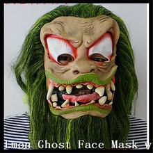 2016 New Type Zombie mask latex bloody scary halloween Big Eyes mask adutl costume party cosplay prop Ghost Alien Mask with Hair