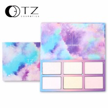 Aurora Glow Kit Palette Shimmer Highlighter Wet Soft Powder Cream Illuminate Face Contour Rainbow Star Box Make Up Maquiagem(China)