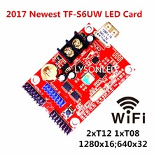 5pcs/lot TF-S6UW WiFi + USB-disk LED Scrolling Message Display Control Card , Max Support 40 pcs P10 Single Color LED Panel