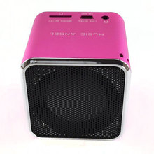 Mini Bluetooth speaker ORIGINAL music angel MD-06BT DIGITAL SPEAKER W/ BUILT IN FM RADIO& SD/TF CARD PINK