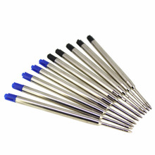 10pcs/lot Jinhao Refill Jinhao Ballpoint Pen  Refill Black/Blue Good Writing Cartridge Nib 0.7mm Jinhao Brand Metal Refill