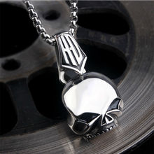 New Arrival Men Stainless Steel Jewelry Skull Pendant Fashion Skeleton Charms Punk Necklace For Men And Women Pendants Jewerly(China)