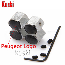 Buy 4pcs Aluminum Car Wheel Tire Air Valve Dust caps Car styling Peugeot 307 206 308 407 207 2008 3008 508 406 208 for $2.97 in AliExpress store