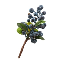 10pcs Decorative Blueberry Fruit Berry Artificial Flower Silk Flowers Fruits For Wedding Home Decoration Artificial Plants blue(China)