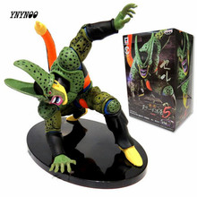 YNYNOO Dragon Ball Z Figure DXF Cell PVC 180mm Dragon Ball Z Action Figure DBZ Cell Second Modal DragonBall Z T261(China)