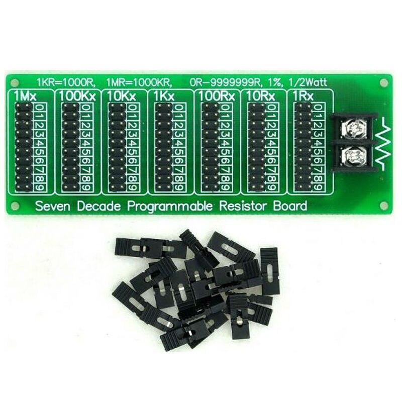 9999999R Programmable Resistor Board Step 1R 1/% 1//2 Watt  DSUK Seven Decade 1R