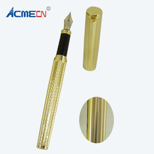 ACMECN Hi-tech Unique Design Computer Engraving Drafting Liquid ink Pen Thread Business Finance Signature Gold Fountain Pens(China)
