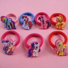 2pcs/lot Girls Elastic Hair Bands Fashion Cartoon kids Girls lovely hair clip& Accessories candy color Rope