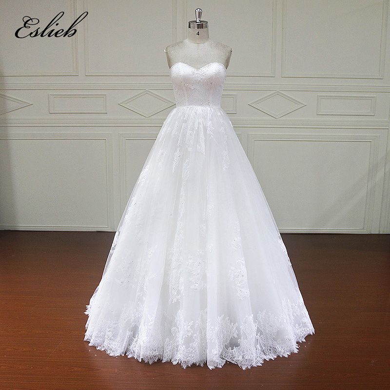 Amazing Sweet Heart Shoulder Zipper Sequined Beading Draped Long Wedding Dress Empire Brush Train Bridal Gown