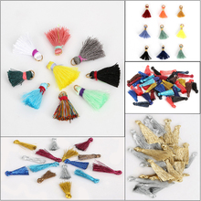 Mix Color Tassel For Earring slik charms Keychain Cellphone Straps Jewelry Fiber Fringe Suede Tassel Charms 13/25/15/20/25mm