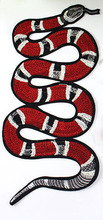 Snake Embroidered Patch Sew On Motif Applique Clothes Cartoon Patch Garment Appliques DIY Accessory