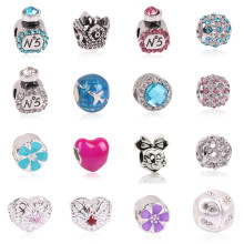 Free Shipping 1pc Large Hole Silver Color Beads Lovely Minnie Mouse Charms Fits European Pandora Charm Bracelet Jewelry Gift