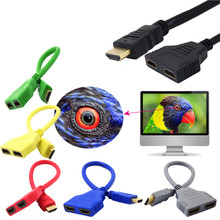 Good sell 3HDMI 1 to 2 Split Double Signal Adapter Convert Cable for Video TV HDTV oct.25(China)