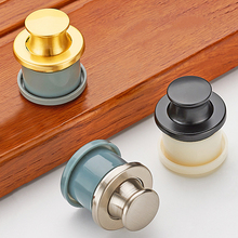 FGHGF Round Hidden Stealth Spring Invisible Furniture Drawer Knobs Handle Press Bounce up Tatami Handle Home Furniture Hardware(China)
