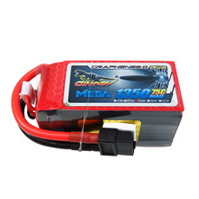 2017 Giant Power DINOGY MEGA GRAPHENE 2.0 14.8V 1350mAh 4S 75C Lipo Battery XT60 For FPV Quadcopter Racing RC Drone(China)
