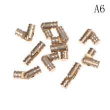 10Pcs/lot Gold Copper Brass Wine Jewelry Box Hidden Invisible Concealed Barrel Hinge Finely Machined Mechanisms(China)