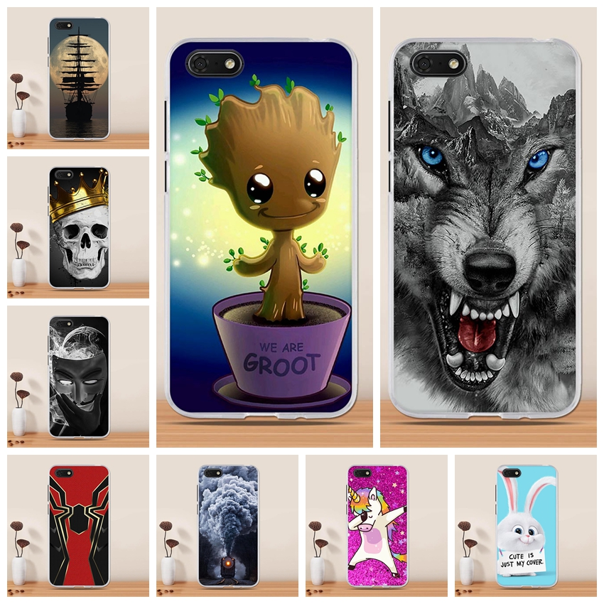 Silicone Case For Huawei Y5 2018 / Y5 Prime 2018 / Honor Play 7 / Honor 7s Case Cover Soft TPU Funda for Huawei Y5 2018 Case