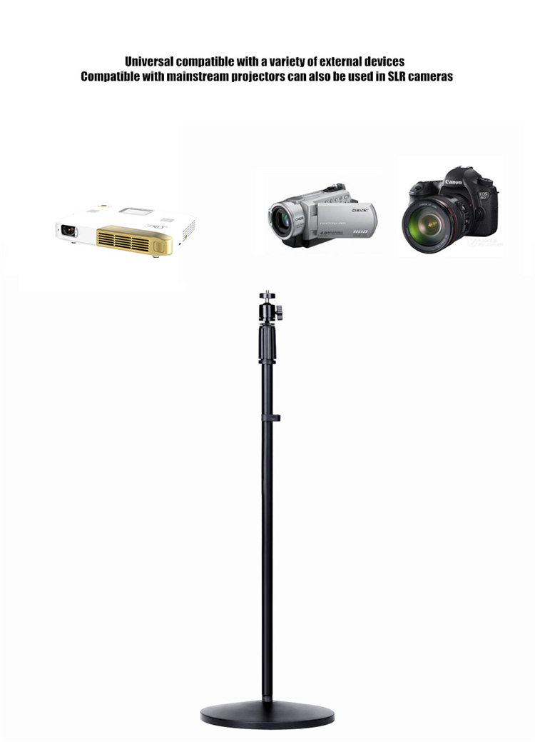 Clip Projectors Holder Portable Tripod for Camera Phone Mini Projector Bracket Stand Head Adjustable 360 Degree Ceiling