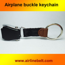 Hot selling mini airplane airline seat belt buckle keychain keyring Colorful aircraft buckle key ring free shipping present(China)