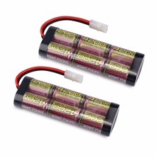 MELASTA 2pcs/lot 7.2V 4200mAh NIMH Battery Pack with Tamiya Connector for RC Racing Model Car/Boat/Tank