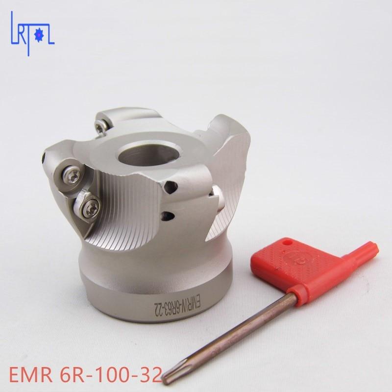 6 flutes EMR 6R-100-32 Mill Visage Fin de Carbure Alliage pour Lourd CNC Fraisage De Coupe<br>